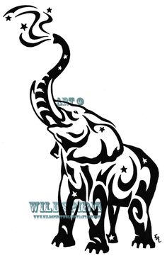 great elephant tattoo concept found via google.com search tattoo elephant tribal under images