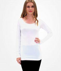ELIETIAN Long Sleeve Top - White