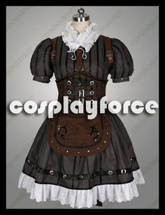 Cheap Alice: Madness Returns Alice Steamdress Cosplay Costumes