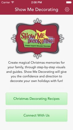 Christmas Tree Decorating App- $2.99 to have the Christmas Decorating experts right on your #iPhone or #iPad! #App, #ChristmasTree, #ChristmasDecorating, #DIY