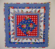 Cottage Chic Quilted Table Runner Wall by ForgetMeNotQuilteds