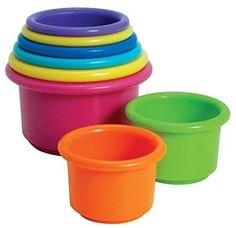 First Years Stacking Up Cups Learning Baby Toy MultiColor Fun Number Recognition #TheFirstYears