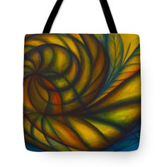 """Spiral Out Tote Bag 18"""" x 18"""""""