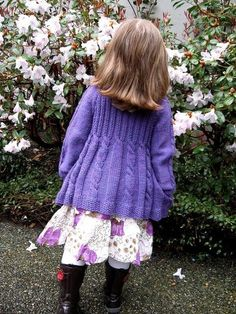 """Best 12 Lavanda is my third design in the """"Spice Girls"""" series. It started as a request by a very dear and special friend, Monika. Baby Sweater Knitting Pattern, Arm Knitting, Cardigan Pattern, Knitting For Kids, Christmas Knitting Patterns, Knitting Patterns Free, Knit Patterns, Baby Scarf, Baby Cardigan"""
