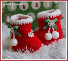 Super ideas for knitting slippers baby christmas gifts Crochet Baby Boots, Knitted Booties, Crochet Baby Clothes, Baby Booties, Inexpensive Christmas Gifts, Baby Christmas Gifts, Crochet Santa, Crochet Gifts, Crochet Christmas