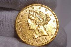 1897 Coronet Head Gold $5 Half Eagle Type 2 Liberty Head