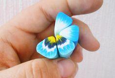 ТРОСТИ для цветка АНЮТИНЫ ГЛАЗКИ из полимерной глины FIMO