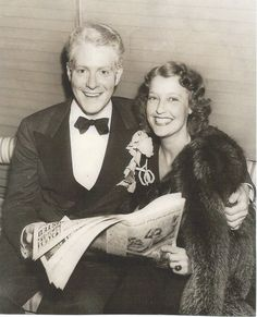 A magazine snip: Jeanette MacDonald and Nelson Eddy in the early days at MGM. - ESCANO COLLECTION
