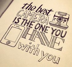 """The best camera is the one you have with you."" Or, in the case of an #IFVPmember, the paper and pen!"