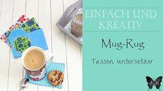 Mug Rug - Tassen Untersetzer Schnittmuster und Nähanleitung als Free Printable