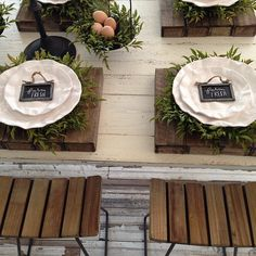 Setting the table for @magnoliamarket today. Love the blend of white and wood