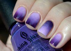 The Manicured Amateur   Purple Gradient