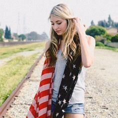 American Flag Chiffon Scarf - Proud to be American!