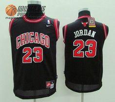 Canotte nba Bambino Chicago Bulls nero Michael Jordan  23 61d213f1411