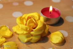 Роза из ленты фото #1