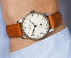 Unique vintage men's watch Pobeda Victory mid century