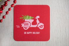 Christmas Party Christmas Coasters by KellyElliottCreative on Etsy