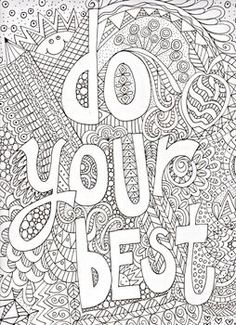 Motivational Poster Coloring Excellence Do Your Best Work