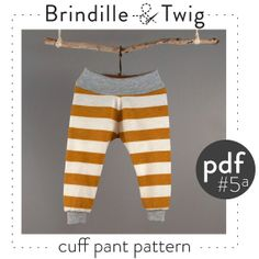 Baby cuff pants sewing pattern pdf photo by brindilleandtwig, $4.50