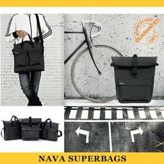 Superbag Vertical Shopper Laptop Tote Bag - Dark Grey - Nava - Do Shop