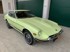 A timeless light touch Restoration of a Lime Yellow 112 Datsun Japanese Classic car for sale with a 4 speed gearbox. Datsun 240z For Sale, Classic Car Restoration, Collector Cars, Cars For Sale, Classic Cars, Seeds, Lime, Japanese, The Originals