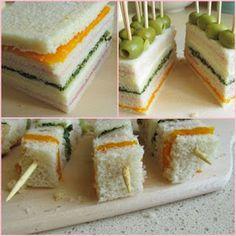 Sfizi e pasticci: Spiedini di tartine Sandwich Cake, Sandwiches, Antipasto, Mini Appetizers, Golden Birthday, Prosciutto, Afternoon Tea, Biscotti, Italian Recipes