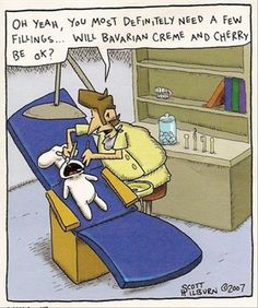 pillsbury dough boy filling - that would be my preferred dentist filling!! #dentaljoke #filling #doughboy