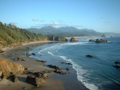 Ecola State Park (View of Haystack Rock, Cannon Beach, Oregon)