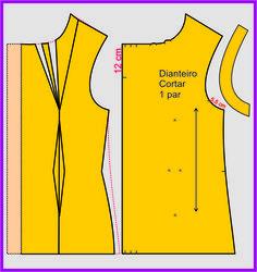 Mais uma camisa, com pregas no decote, super estilosa, para você cortar e costurar!       Devido ao grande sucesso do post anterior, e aten...