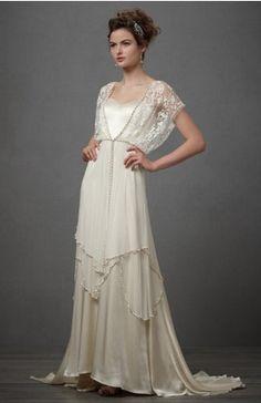 oruga de día mariposa de noche: vestidos de novia años 20