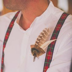 Pheasant feather buttonhole