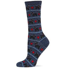 Scottie Dog Crew Socks