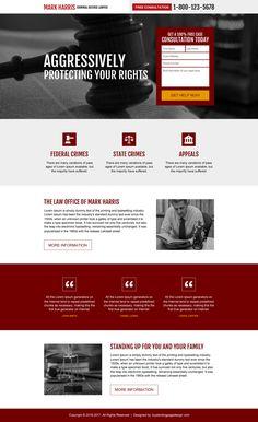 criminal defense lawyer responsive landing page design