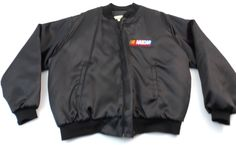 Vintage Taylor NASCAR Embroidered Jacket Full Zip Mens Size 2XL XXL Black USA #Taylor