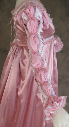 077e0e2b8ac Rose Satin Renaissance Dress Four-Piece Costume   Artemisia Designs