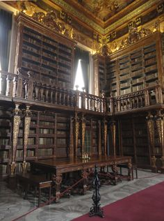 Biblioteca, Universidade de Coimbra, Portugal - Foto Rosa da Matta