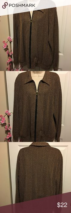 Beautiful Gold Jacket It has a hint of sparkle. Gorgeous accent piece. Great condition. No marks or stains. Add three more items to your bundle & make an offer for 30% off the original price! Don't know how to make an offer? Just ask! Alfred Dunner Jackets & Coats