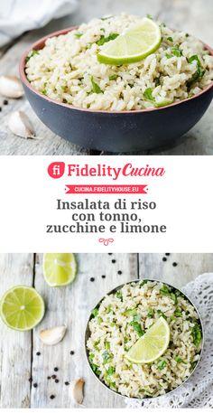 Insalata di riso con tonno, zucchine e limone