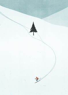 Skiing, Mountains, Tree. Shout, Via Dutch Uncle.