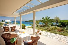 Corfu hotel Bella Mare is a four-star hotel in the wonderful island of Corfu Greece, in Kassiopi village, next to Avlaki beach.It is ones of the best family friendly corfu hotels. If you are looking for one of the best Corfu hotels, Bella mare is for you. Corfu Hotels, Green Scenery, Corfu Island, Corfu Greece, Outdoor Living Areas, Jpg, Pergola, Villa, Outdoor Structures