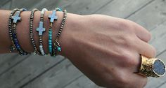 Relics Wrap Bracelets and Druzy Ring
