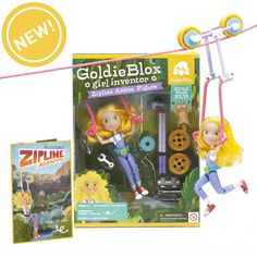 "GoldieBlox (previously), the toy company that offers girls alternative options for play, has debuted their GoldieBlocks Zipline Action Figure with ""GoldieBlox vs.the Big Sister Machine,"" a ""Big Bro..."