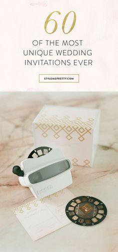 60 unique wedding invitations via @stylemepretty