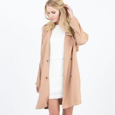 Modern Citizen     Rosie Short Trench Coat (Camel) $118