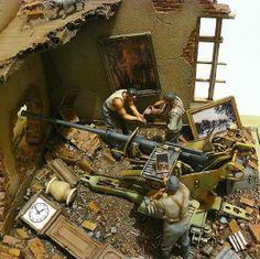 Diorama Flak 37-1/35