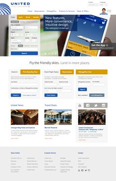 A redesign for the United Airlines website my group and I did for our web design class at school.
