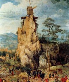 "The Procession to Calvary, Artist: Pieter Bruegel the Elder, Year: 1564, dated and signed ""BRVEGEL MD.LXIIII"""