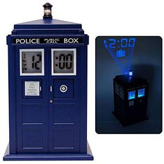 Doctor Who projection alarm clock!