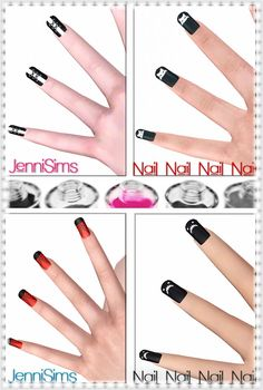 Nails 4 designs by Jennisims - Sims 3 Downloads CC Caboodle