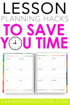 Lesson Planning Hacks to Save You Time - Sailing into Second
